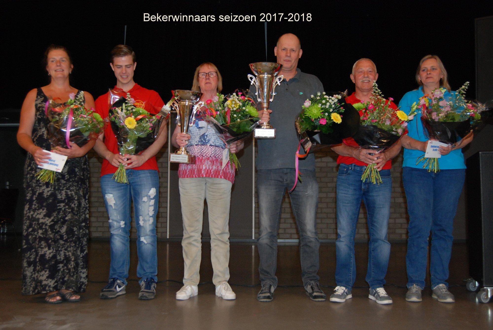 Bekerwinnaars seizoen 2017-2018