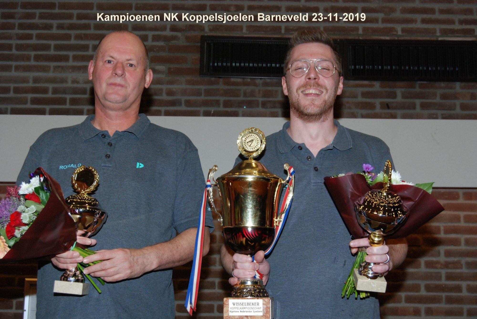 Kampioenen Nederlands Koppelsjoelen 23-11-2019